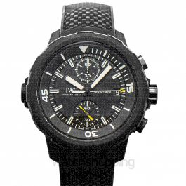 Aquatimer Chronograph Edition Galapagos Islands Automatic Black Dial Men's Watch