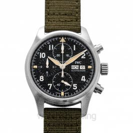 Pilot's Watch Chronograph Spitfire Automatic Black Dial Men's Watch