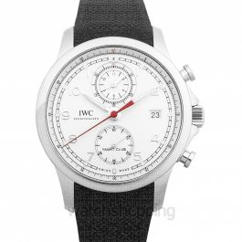 Portugieser Yacht Club Chronograph Automatic Silver Dial Men's Watch