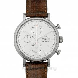 Portofino Chronograph Edition 150 Years Automatic Silver Dial Men's Watch
