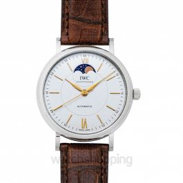 Portofino Moon Phase Automatic Silver Dial Men's Watch