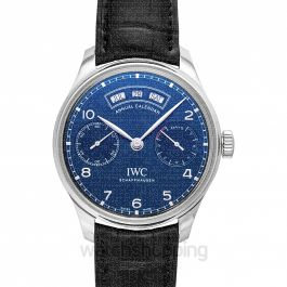 Portugieser Annual Calendar Automatic Blue Dial Men's Watch