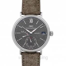 Portofino Hand-Wound Eight Days Manual-winding Grey Dial Men's Watch