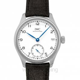 "Portugieser Hand-Wound Eight Days Edition ""150 Years"" Manual-winding White Dial Men's Watch"