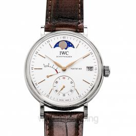 Portofino Hand-Wound Moon Phase Manual-winding Silver Dial Men's Watch