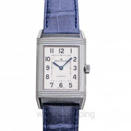 Reverso Classic Medium Duetto Automatic Silver Dial Ladies Watch