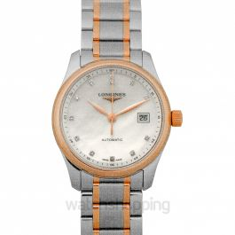 Master Collection Automatic White Dial Diamond Ladies Watch
