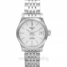 Record Automatic Silver Dial Ladies Watch