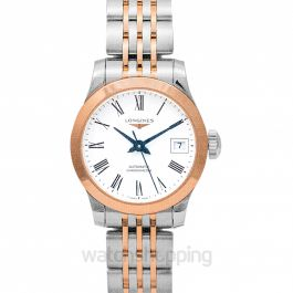 Record Automatic White Dial Ladies Watch