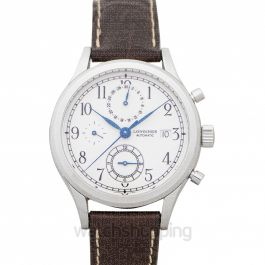 Heritage Automatic White Dial Chronograph Men's Watch