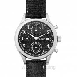 Heritage Automatic Black Dial Chronograph Men's Watch