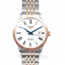 Record Automatic White Dial Men's Watch