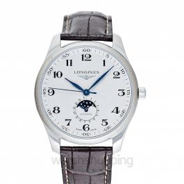 The Longines Master Collection Moonphase Automatic Silver Dial Men's Watch