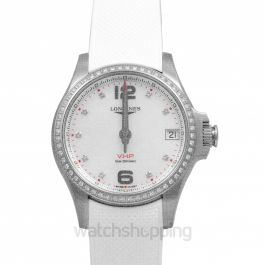 Conquest Quartz White Dial Unisex Watch