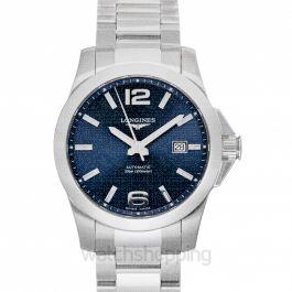 Conquest Automatic Blue Dial Men's Watch