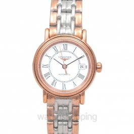 Presence Automatic White Dial Ladies Watch