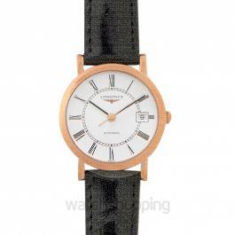 Elegant Automatic White Dial Ladies Watch