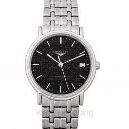 Presence Automatic Black Dial Ladies Watch