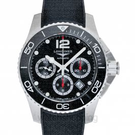HydroConquest Chronograph Automatic Black Dial Men's Watch