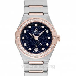 Constellation Co-Axial Master Chronometer 29mm Automatic Blue Dial Diamond Ladies Watch