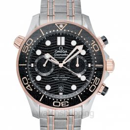 Seamaster Co-Axial Master Chronometer Chronograph 44mm Automatic Black Dial Sedna™ Gold Men's Watch