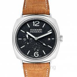 Panerai Radiomir 10 Days GMT Black Dial Brown Leather Men's Watch