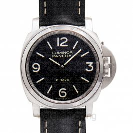 Luminor Base 8 Days Manual-winding Black Dial 44 mm Men's Watch