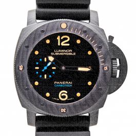 Luminor Submersible Carbotech Automatic Black Dial 47 mm Men's Watch