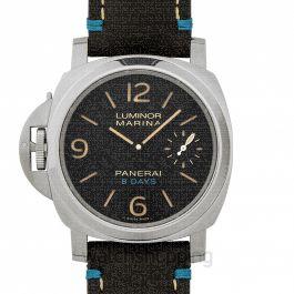 Luminor Left-handed 8 Days Manual-winding Black Dial 44 mm Men's Watch