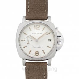 Luminor Due 38mm Automatic White Dial Men's Watch