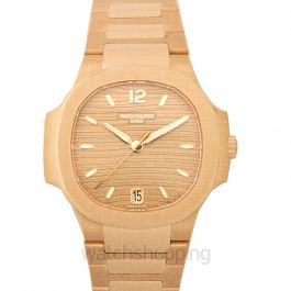 Nautilus Rose Automatic Gold Dial Ladies Watch