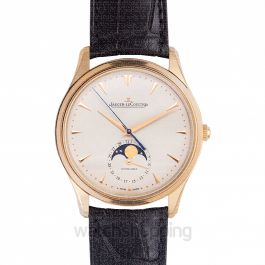 Master Ultra Thin Moonphase Automatic Beige Dial Men's Watch