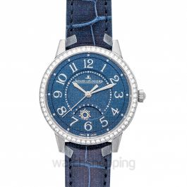 Rendez-Vous Night & Day Medium Automatic Blue Dial Diamonds Ladies Watch