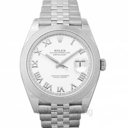 Datejust 41 Stainless Steel Smooth / Jubilee / White Roman