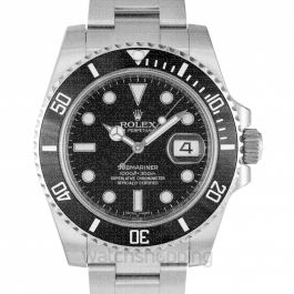 Submariner Steel Automatic Black Dial Men's Watch