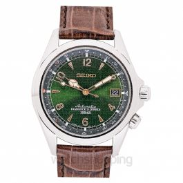 Mechanical Alpinist Stainless Steel / Green / Strap
