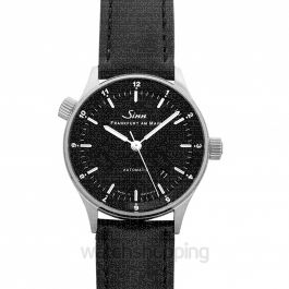 SINN Frankfurt Financial District Watches 6068.010-FLSS-Calfskin-Blk