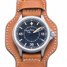 SINN Instrument Watches 856.012-Leather-Calfskin with leather underlay-CSLC-Mid brown