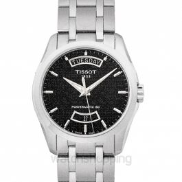 T-Classic Couturier Powermatic 80 Automatic Black Dial Men's Watch