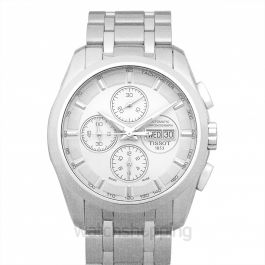 T-Classic Couturier Automatic Chronograph Silver Dial Men's Watch