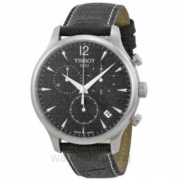 T-Classic Quartz Black Dial Men's Watch