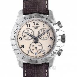 T-Sport V8 Quartz Chronograph Ivory Dial Men's Watch