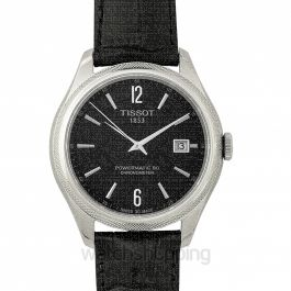 T-Classic Ballade Powermatic 80 Cosc Automatic Black Dial Men's Watch