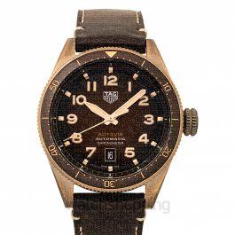 Autavia Calibre 5 Chronometer Automatic Brown Dial Men's Watch