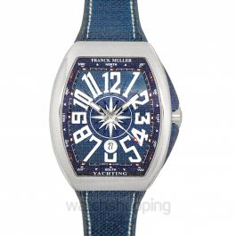 Franck Muller Vanguard Stainless Steel Blue Automatic