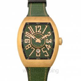 Franck Muller Vanguard Stainless Steel Green Automatic