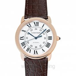 Ronde de Cartier 36mm Silver Dial Rose Gold Ladies Watch