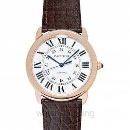 Ronde de Cartier 36mm Silver Dial Rose Gold Ladies Watch