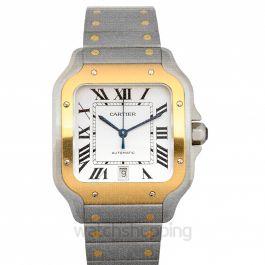Cartier Santo de Cartier Watch Yellow Gold Silver/Steel 39.8mm