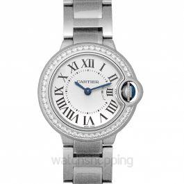 Ballon Bleu de Cartier 28 mm Quartz White Dial Stainless Steel Ladies Watch